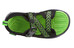 Keen Rock Iguana Sandals Children black/jasmine green